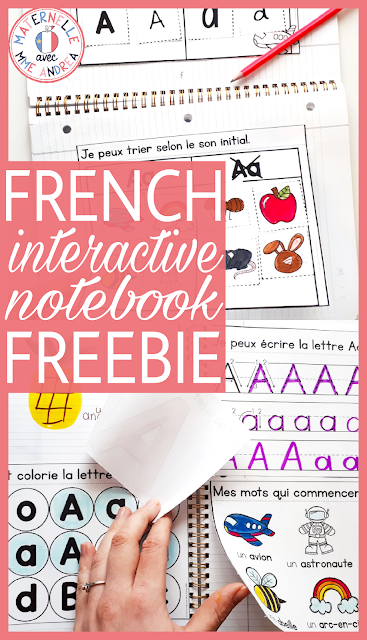 A FREE sample of a French interactive alphabet notebook designed especially with maternelle students in mind. Straight cuts ONLY!!