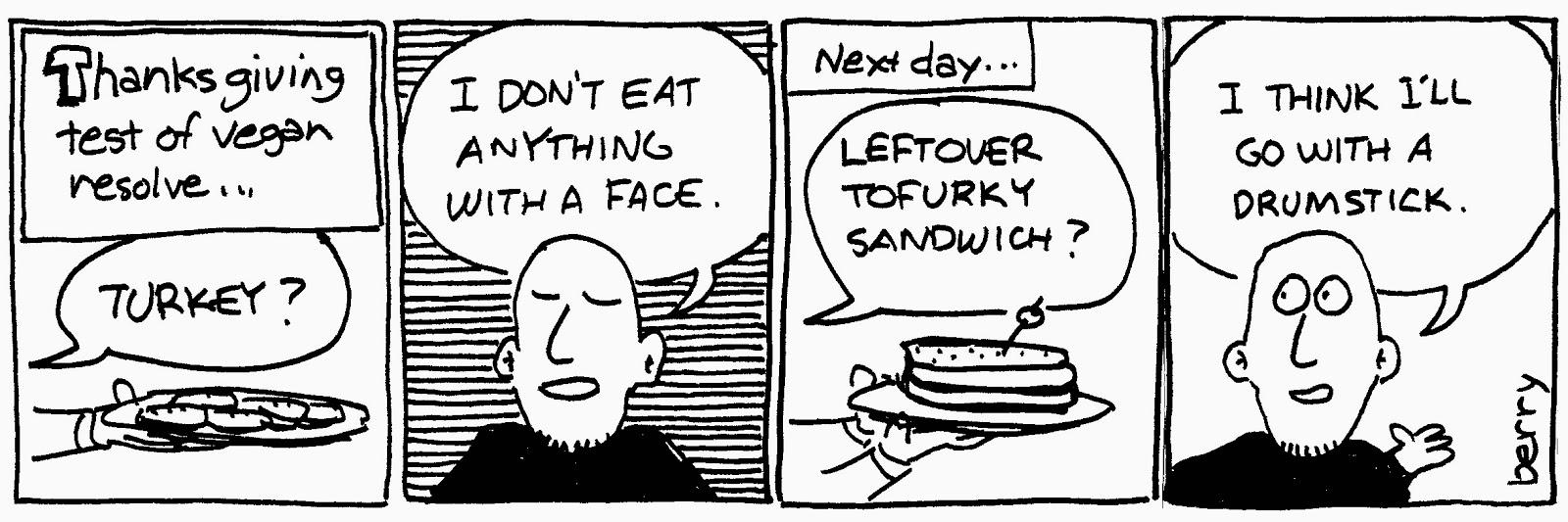 Vegan Thanksgiving Cartoon