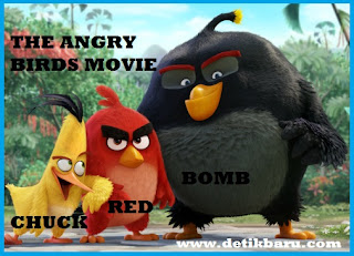 Red, Chuck, dan Bomb di Film The Angry Birds Movie