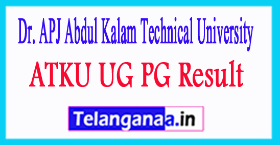 ATKU UG PG Result 2018 UPTU Result 2018