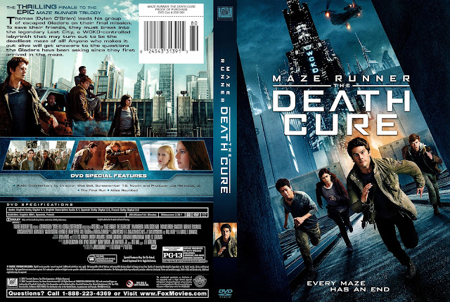 Maze Runner The Death Cure (scan) DVD Cover