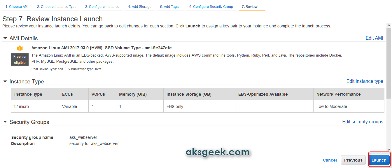 review ec2 instance