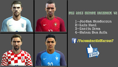 PES 2013 EUROPE FACEPACK V2