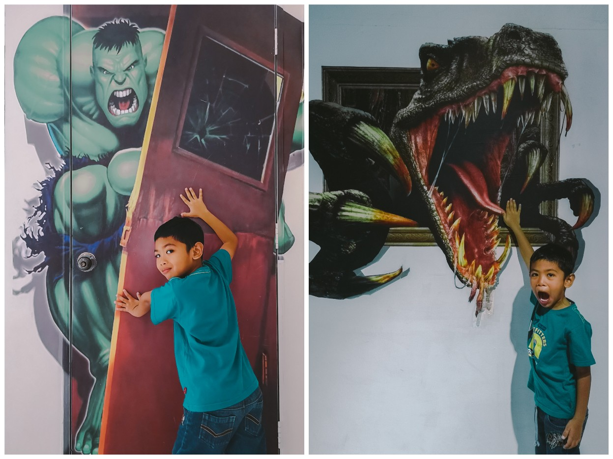 Rumah Terbalik Port Dickson, Negeri Sembilan - mural