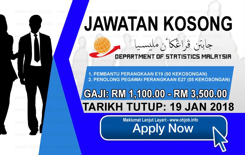 Jawatan Kerja Kosong Jabatan Perangkaan Selangor logo www.ohjob.info januari 2018