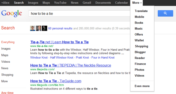 Google Tests A New Version Of The Black Bar