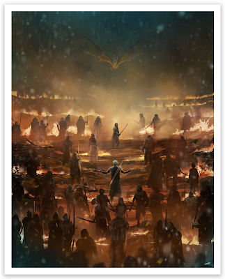 "Game of Thrones ""The Long Night"" Fine Art Giclee Print by Andy Fairhurst x Bottleneck Gallery"