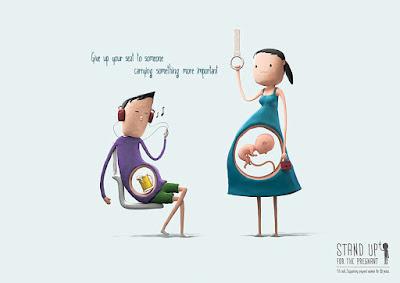 Diseño de cartel y mujeres embarazadas