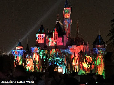 Disneyland Hong Kong castle at Halloween