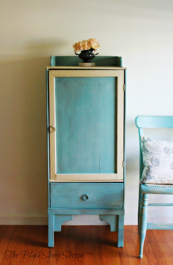 Re-purposed storage cabinet.