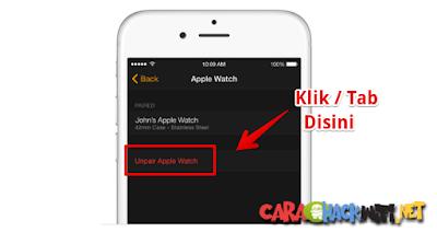 Cara Menghubungkan Apple watch tanpa menghapus settingan