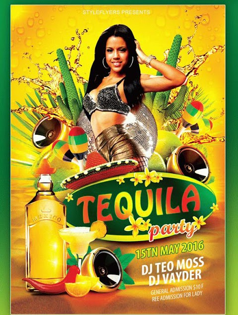 Plantilla para crear flyers para fiestas, al estilo mexicano