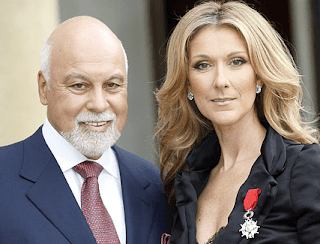 The late Rene Angelil and Celine Dion