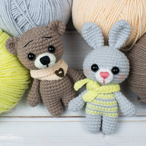 Tiny Bunny & Bear - Free Pattern