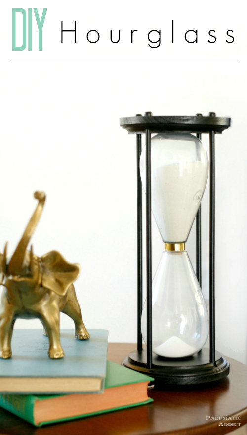 Make your own DIY hourglass from supplies found at the craft store.