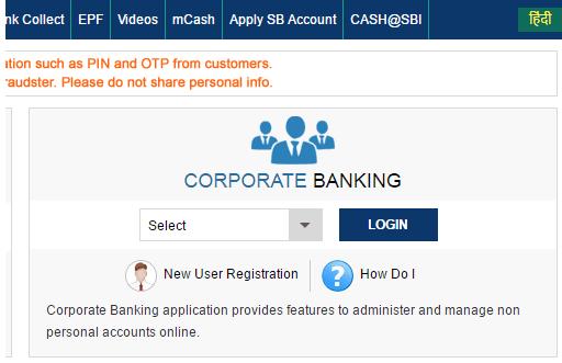 sbi saral corporate login