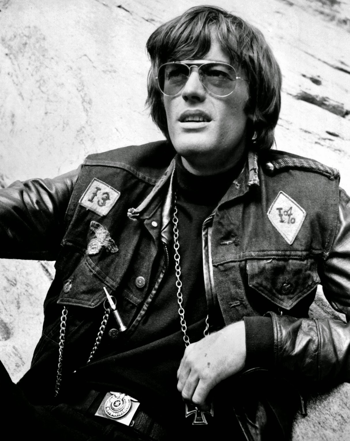 Peter Fonda in 70's Wearing Aviator Sunglasses