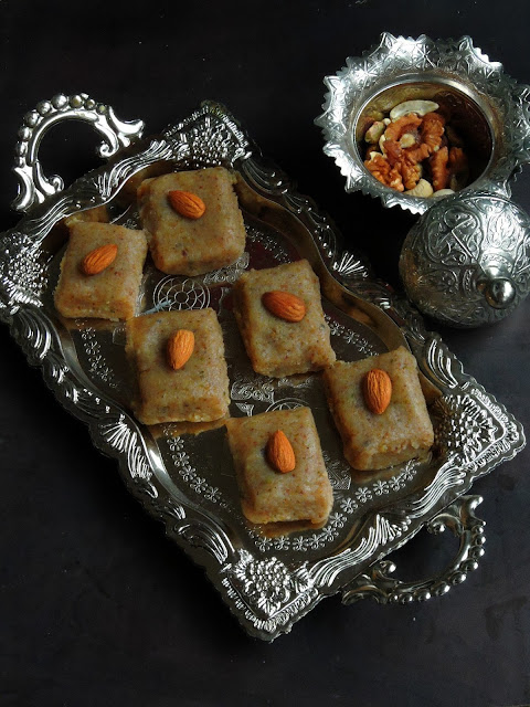 Mixed Nuts Burfi, Mewa Halwa