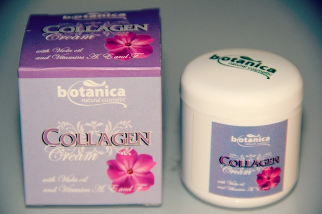 Botanica natural cosmetic Collagen face cream with wild pansy flower oil