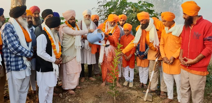 The campaign to plant 550 plants in every village under the leadership of Sant Balbir Singh Seechewal is underway