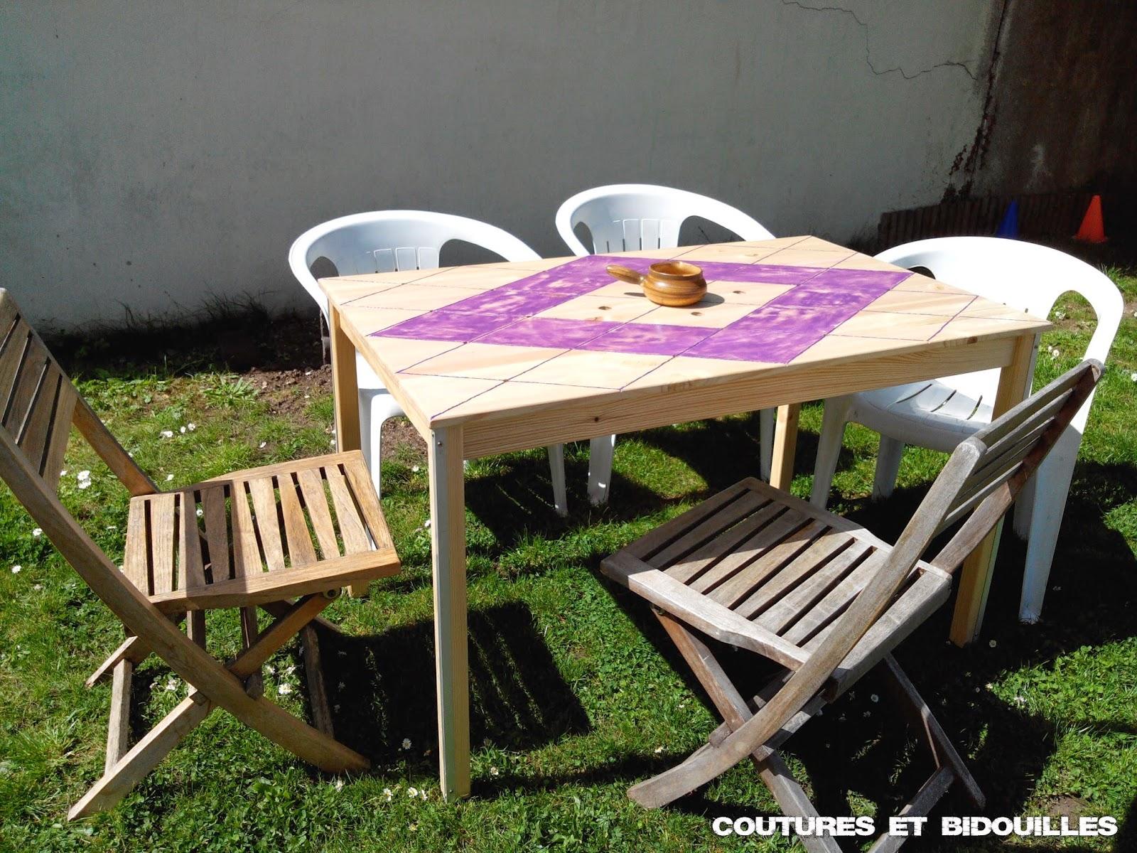Table De Jardin Recup coutures & bidouilles: bricolage de jardin