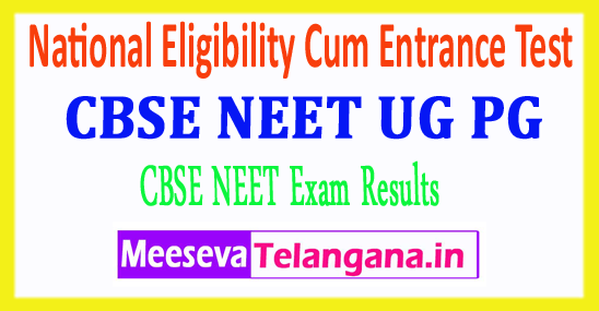 National Eligibility cum Entrance Test Central Board Of Secondary Education CBSE NEET PG UG Results 2018