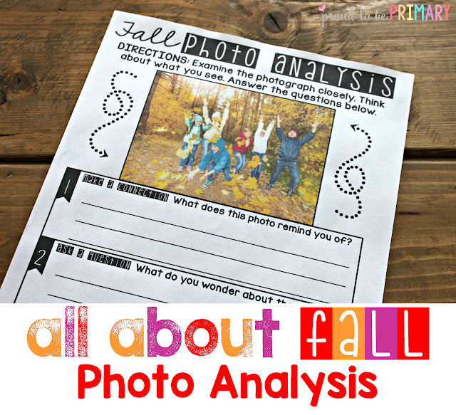 fall lesson plans - photo analysis