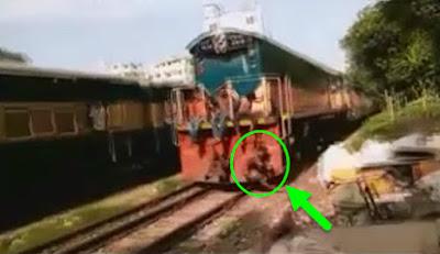 Golpeado Brutalmente por el Tren