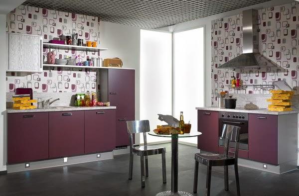 Fotos de cocinas juveniles colores en casa - Papel para paredes de cocina ...