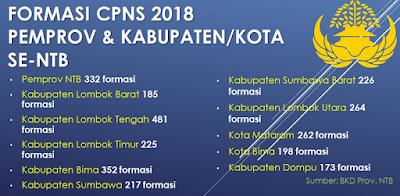 info kuota dan jumlah formasi pengadaan CPNS tahun 2019 kabupaten kota dan propinsi untuk wilayah NTT, NTB dan Bali.