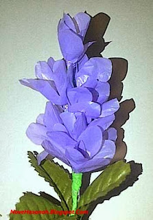 bunga lavender dari kantong kresek bekas yang cantik