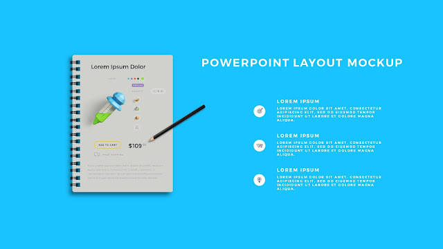 Infographic Spiral Book PowerPoint Mockup Template Slide 4