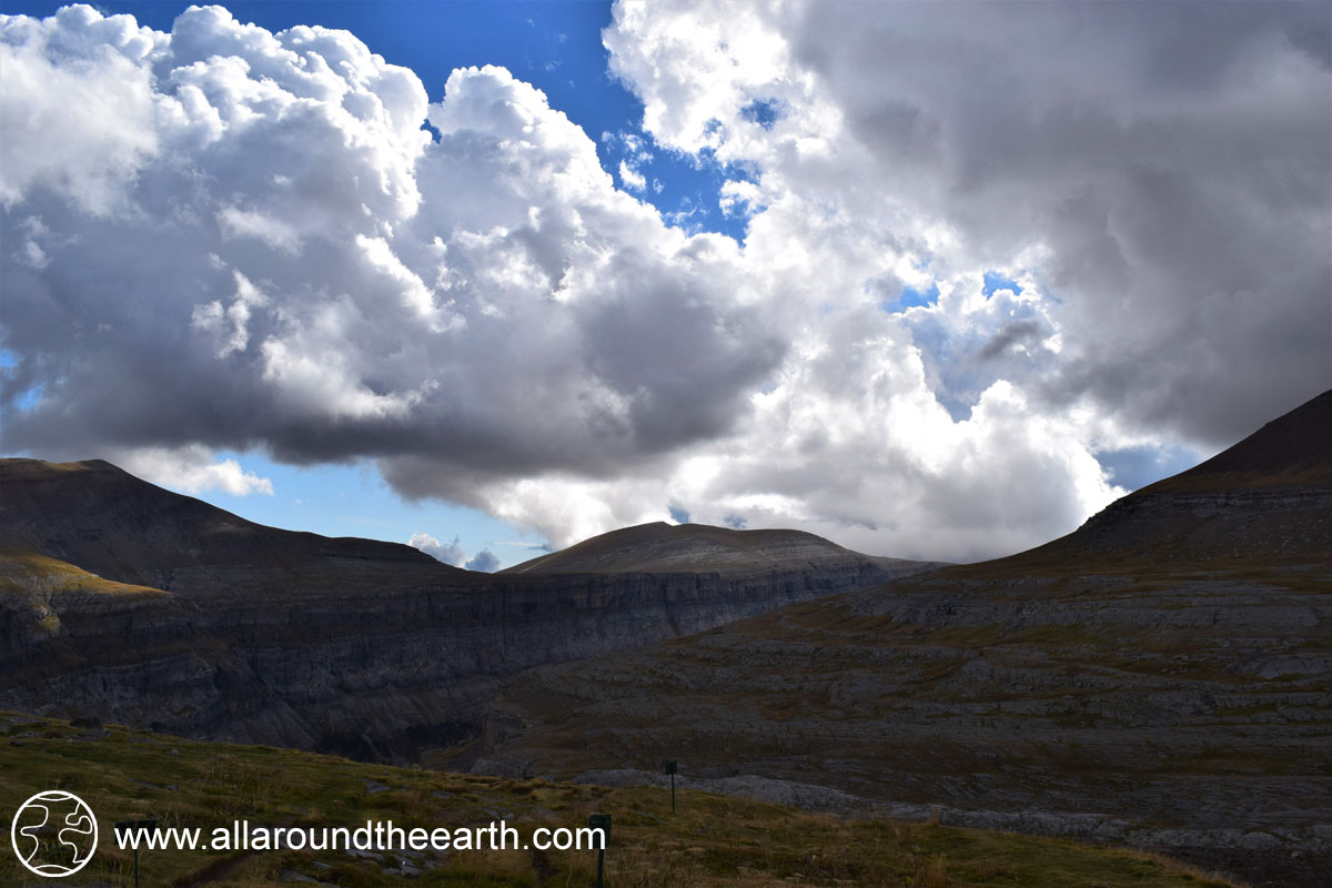 View from mountain hut Refugio de Goriz in the Ordesa Y Monte Perdido National Park, Spain