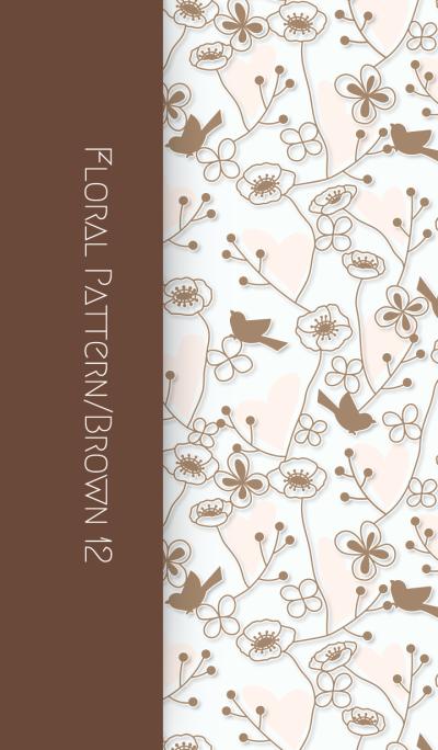 Floral Pattern[Poppy]/Brown12