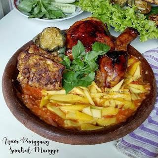 Ide Resep Masak Ayam Panggang dan Sambal Mangga