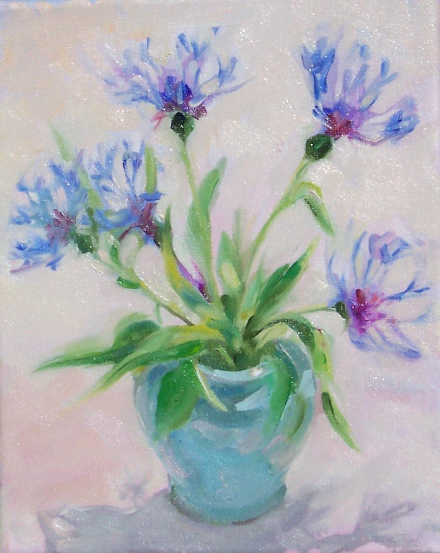 Art Every Day Pretty Garden Flowersstill Lifeoil On Canvas10x8