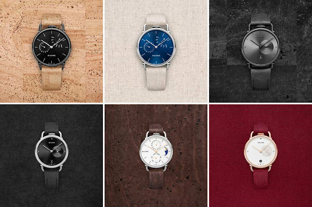 A patchwork of some new watches from Baume, new watch brand from Richemont