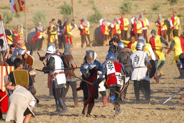 Soldats Arborea corona d'Aragó recreació batalla Sanluri