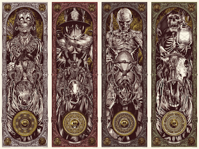 A Warrior's Dreams Volume 3: Apocalypse Screen Print Series by Anthony Petrie