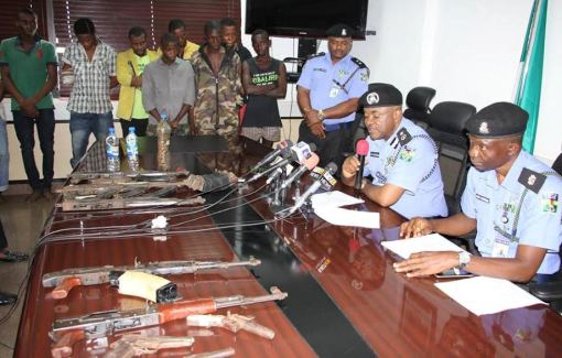 Police parades kidnappers of Port Harcourt residents and fifth member of Isheri landlords' abductors