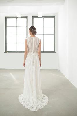 suknia ślubna boho ecru