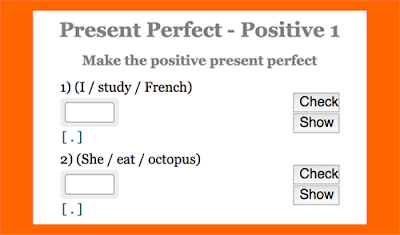Present Perfect practice: Positive sentence