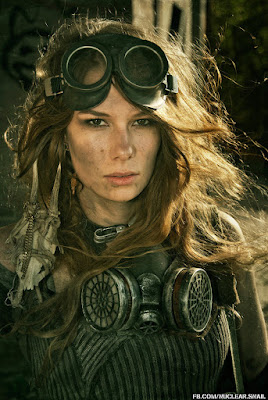 steampunk and dieselpunk makeup special fx. Diy tutorial on how to create dirty soot marks and grease on face. For men and women, engineers, mechanics, pilots costumes and cosplay