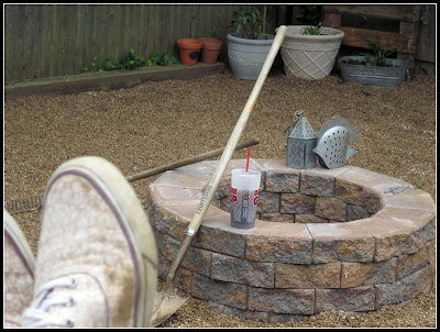 building a fire pit DIY www.homeroad.net