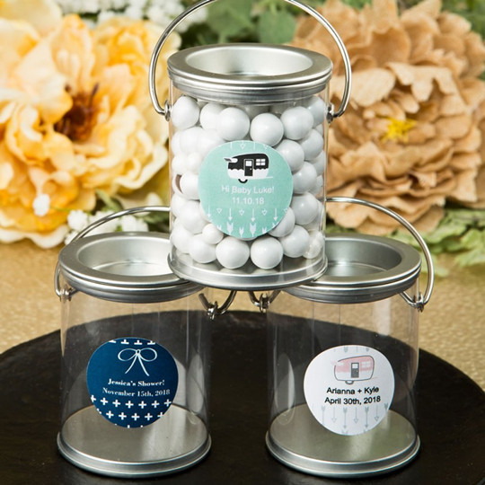 White Mint Tin DIY wedding favors