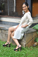 Radhika Cute Young New Actress in White Long Transparent Kurta ~  Exclusive Celebrities Galleries 031.JPG