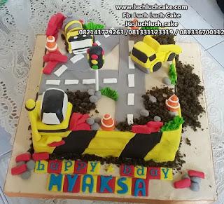 Kue Tart Ulang Tahun Alat Berat Untuk Anak Cowok