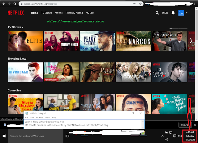 Netflix Premium Accounts Full List 2018