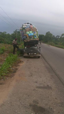 See Photos Of Overloaded Vehicles Impounded By FRSC In Cross River 2