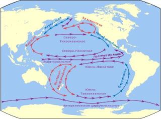 Где находится течение западных ветров на карте